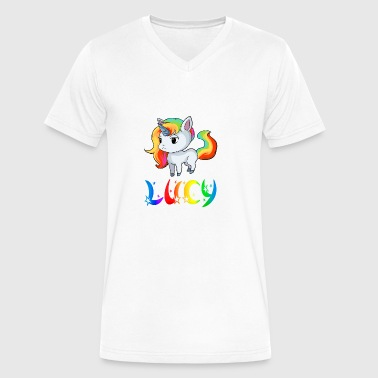 Lucy Unicorn - Men's V-Neck T-Shirt by Canvas