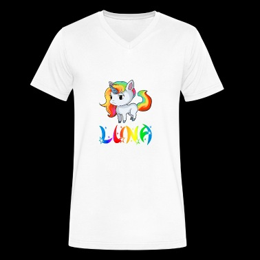 Luna Unicorn - Men's V-Neck T-Shirt by Canvas