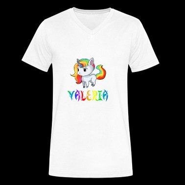 Valeria Unicorn - Men's V-Neck T-Shirt by Canvas