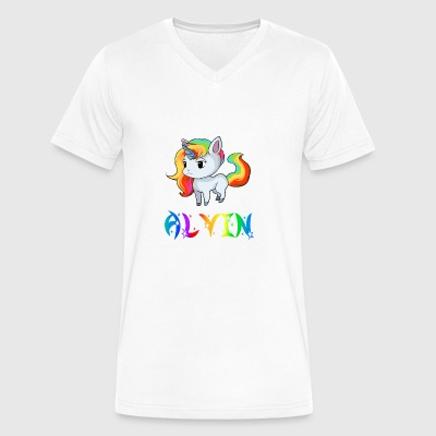 Alvin Unicorn - Men's V-Neck T-Shirt by Canvas