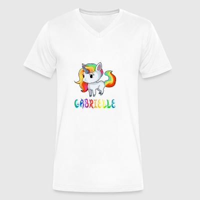 Gabrielle Unicorn - Men's V-Neck T-Shirt by Canvas