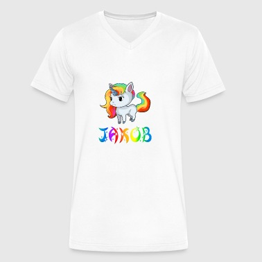 Jakob Unicorn - Men's V-Neck T-Shirt by Canvas