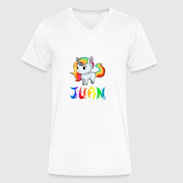 Juan Unicorn - Men's V-Neck T-Shirt by Canvas