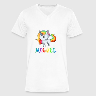 Miguel Unicorn - Men's V-Neck T-Shirt by Canvas