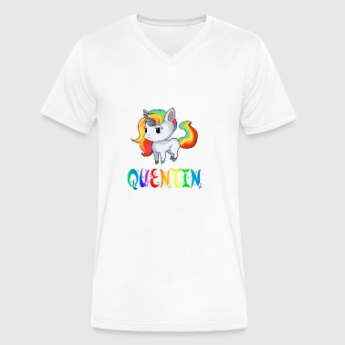 Quentin Unicorn - Men's V-Neck T-Shirt by Canvas