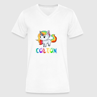 Colton Unicorn - Men's V-Neck T-Shirt by Canvas