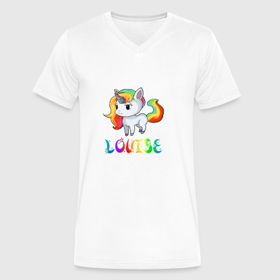 Louise Unicorn - Men's V-Neck T-Shirt by Canvas
