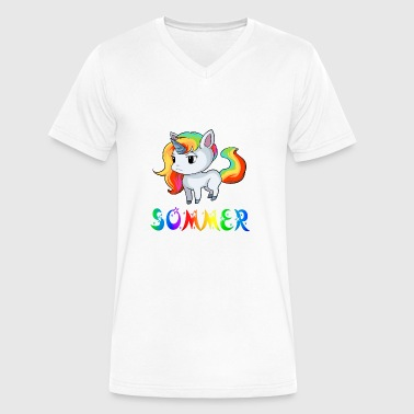 Sommer Unicorn - Men's V-Neck T-Shirt by Canvas