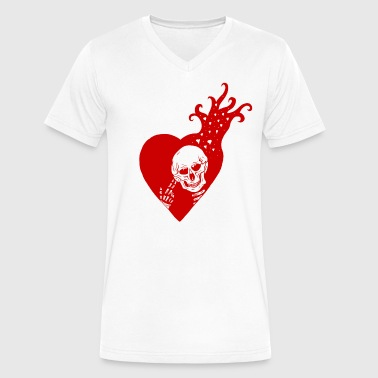 VDay RED - Men's V-Neck T-Shirt by Canvas