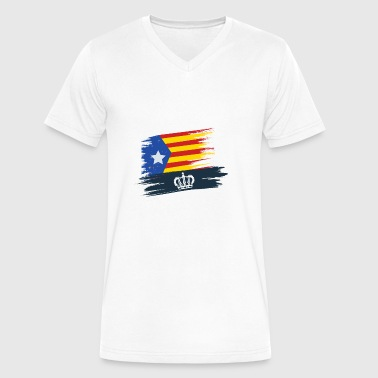 I love Catalonia Independent Catalan Gifts Spain - Men's V-Neck T-Shirt by Canvas