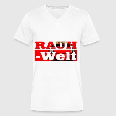 Red RWB typo - Men's V-Neck T-Shirt by Canvas
