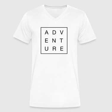 Adventure Black Camping Hiking Road Trip - Men's V-Neck T-Shirt by Canvas