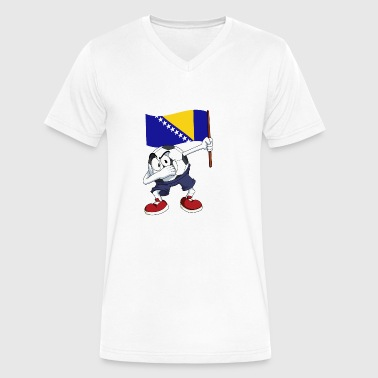 Bosnia and Herzegovina Dabbing Soccer Ball - Men's V-Neck T-Shirt by Canvas