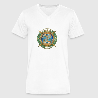 The Guild Seal Fable T shirt - Men's V-Neck T-Shirt by Canvas
