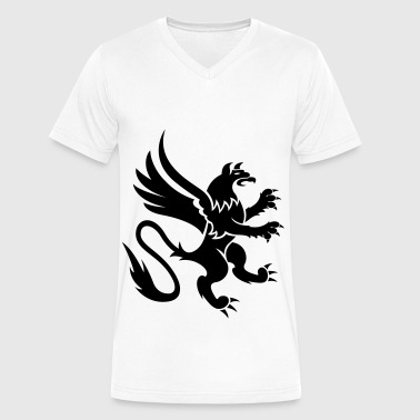 gryphon - Men's V-Neck T-Shirt by Canvas