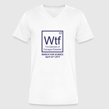 Wtf Outraged Disbelief - Men's V-Neck T-Shirt by Canvas