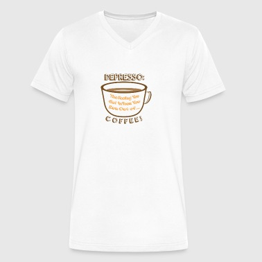 Depresso Coffee - Men's V-Neck T-Shirt by Canvas