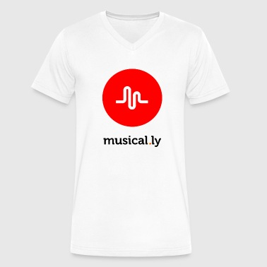 musical.ly - Men's V-Neck T-Shirt by Canvas