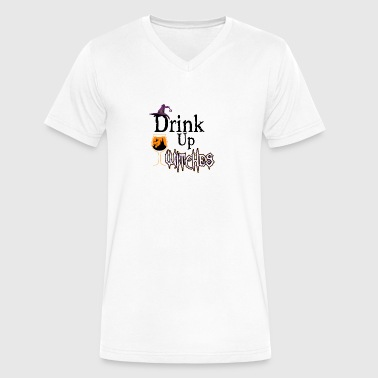 Drink Up Witches - Halloween Costume T-Shirt - Men's V-Neck T-Shirt by Canvas