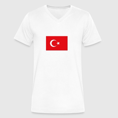 National Flag Of Turkey - Men's V-Neck T-Shirt by Canvas