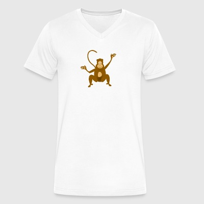 Monkey Scalable - Men's V-Neck T-Shirt by Canvas