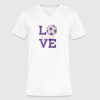 Love Girls Soccer Appleton High School - Men's V-Neck T-Shirt by Canvas