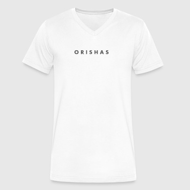 Orishas (Slim Smoke Letters) - Men's V-Neck T-Shirt by Canvas