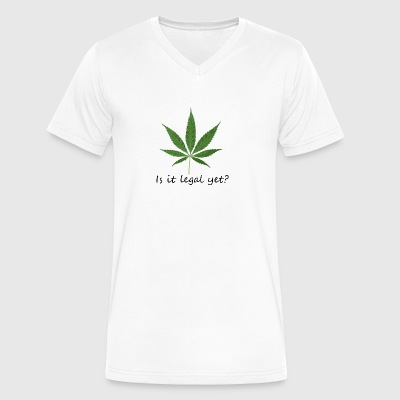 legal yet - Men's V-Neck T-Shirt by Canvas