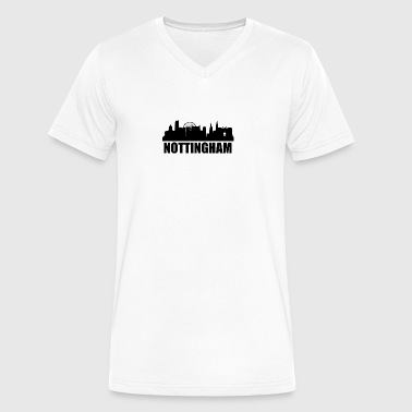Nottingham Skyline - Men's V-Neck T-Shirt by Canvas