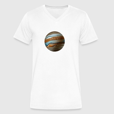 Cartoons-funny-planet-Jupiter-space - Men's V-Neck T-Shirt by Canvas