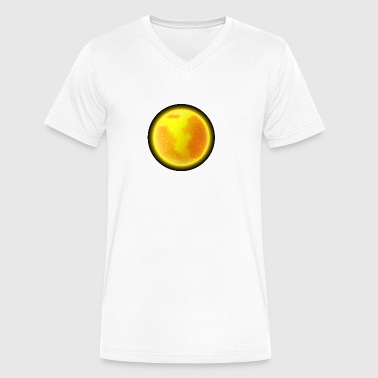 Cartoons-funny-planet-Sun-space - Men's V-Neck T-Shirt by Canvas