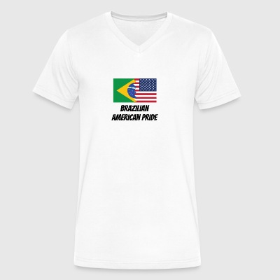 Brazilian American Pride - Men's V-Neck T-Shirt by Canvas