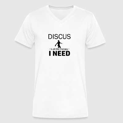 Discus is my therapy - Men's V-Neck T-Shirt by Canvas