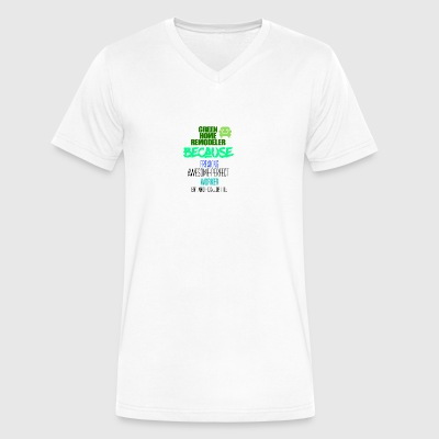Green home remodeler - Men's V-Neck T-Shirt by Canvas