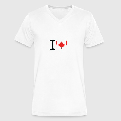 I Love Canada - Men's V-Neck T-Shirt by Canvas