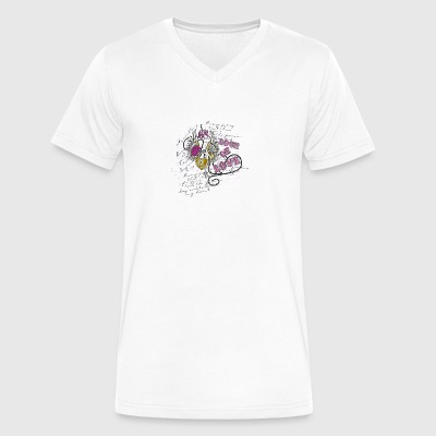 lock of love - Men's V-Neck T-Shirt by Canvas