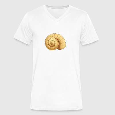 Seashell Illustration - Men's V-Neck T-Shirt by Canvas
