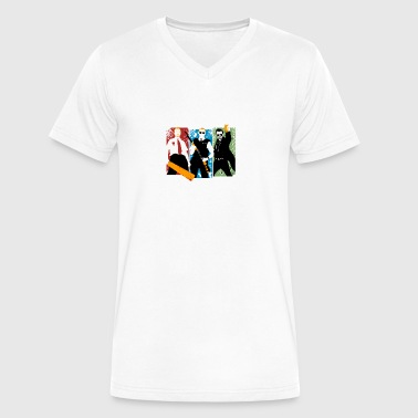blood and ice cream - Men's V-Neck T-Shirt by Canvas