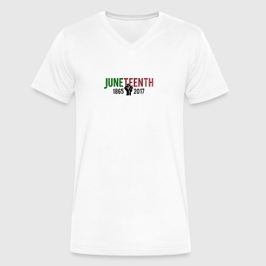 Juneteenth - Men's V-Neck T-Shirt by Canvas