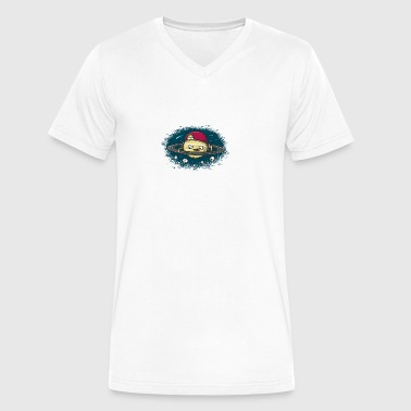 DJ Saturn - Men's V-Neck T-Shirt by Canvas