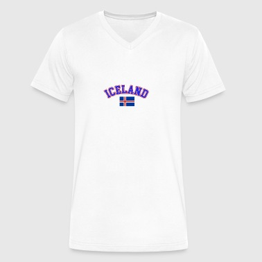 iceland design - Men's V-Neck T-Shirt by Canvas