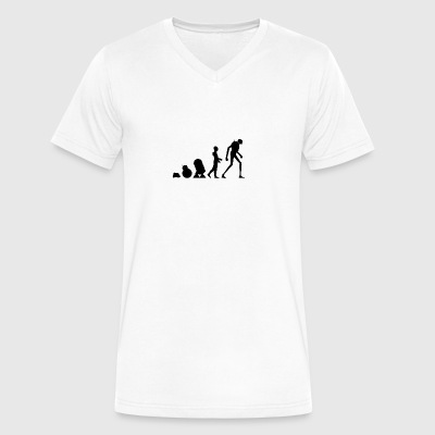 Evolution of Droid - Men's V-Neck T-Shirt by Canvas