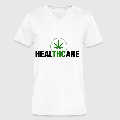 THC Weed Cannabis Medical Marijuana - Men's V-Neck T-Shirt by Canvas