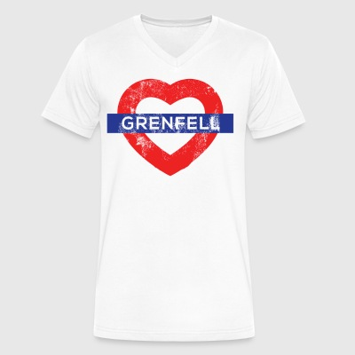 Grenfell tower - Men's V-Neck T-Shirt by Canvas