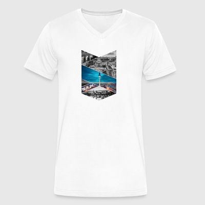 Berlin Germany City T-shirt - Men's V-Neck T-Shirt by Canvas