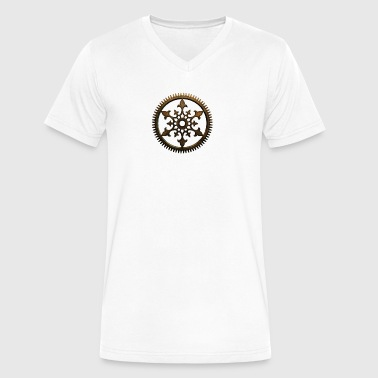 Steampunk Cog - Men's V-Neck T-Shirt by Canvas
