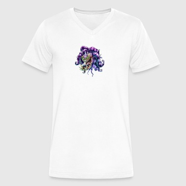 JESTER HEAD - Men's V-Neck T-Shirt by Canvas