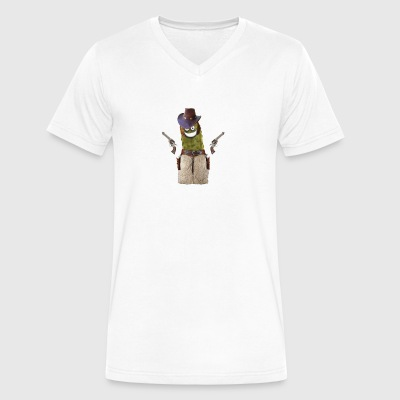 Cowboy Pickle - Men's V-Neck T-Shirt by Canvas
