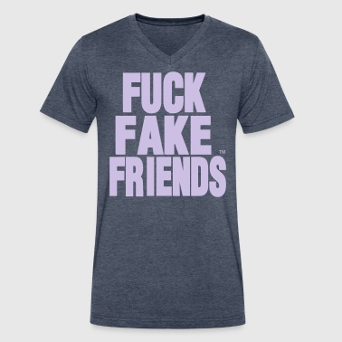 FUCK FAKE FRIENDS - Men's V-Neck T-Shirt by Canvas