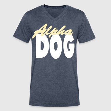 ALPHA DOG - Men's V-Neck T-Shirt by Canvas